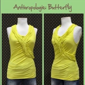 Anthropologie chartreuse sleeveless tank size med